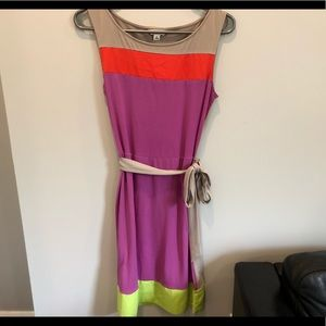 Colour block summer dress